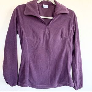 Columbia Purple Fleece Half Zip Jacket Sweatshirt